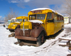 Buses is in every stage of development from storage to ready to rent, Mystic Hot Springs, Monroe, Utah, March 2, 2015 | Photo by Carin Miller, St. George News