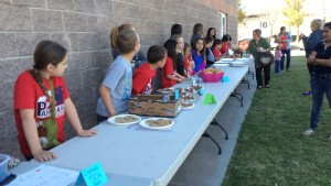 Panorama Elementary School third-graders sale baked goods to aid the building up of schools in developing countries, St. George, Utah, March 6, 2015 | Photo by Holly Coombs