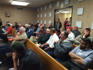 Over 60 people attended Monday's commission meeting for the decision regrading the Iron County Ambulance Service, Parowan, Utah, March 9, 2015 | Photo by Devan Chavez, St. George News