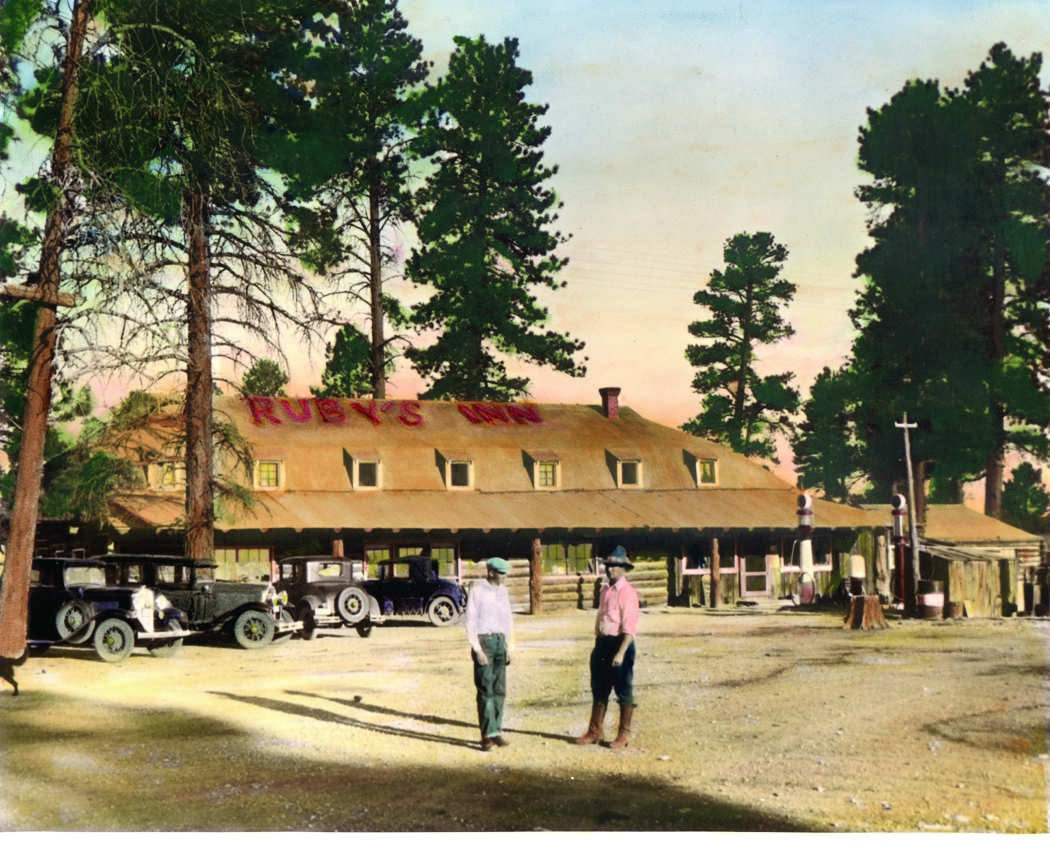 Historic photo of Ruby's Inn, Bryce Canyon City, Utah, circa 1930 | Photo courtesy of Ruby's Inn, St. George News