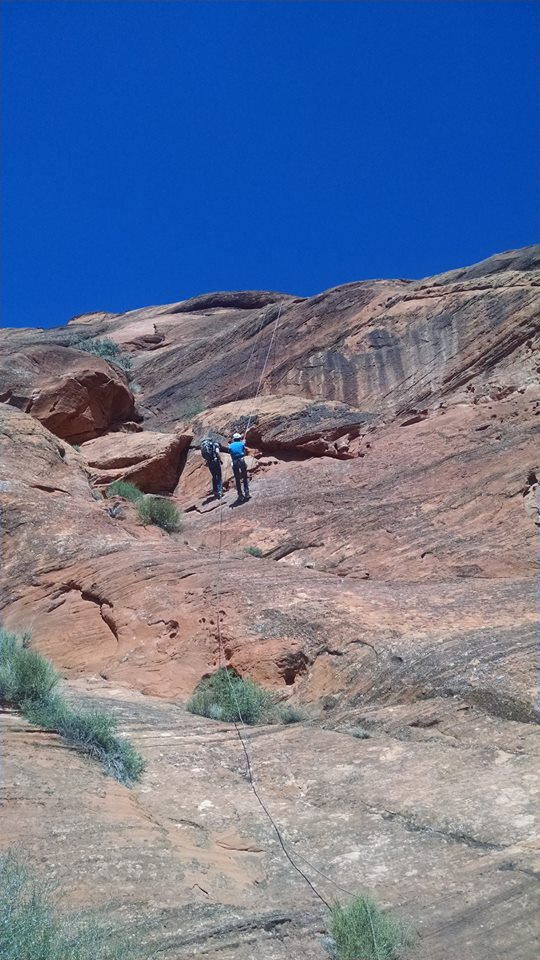 Washington County Search and Rescue help stranded hikers in the Red Cliffs Recreation Area, March 26, 2015 | Photo courtesy of Washington County Search and Rescue, St. George News