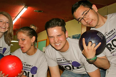 """Big Brothers Big Sisters of Utah """"Bowl For Kids' Sake"""" participants 2014, location not specified 