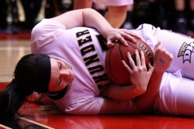 Former Desert Hills star Haley Bodnar, shown here during the 2014 3A State Championships, has decided to transfer from Purdue University. File photo from Cedar  City, Utah, Mar. 1, 2014 | Photo by Robert  Hoppie, St. George News