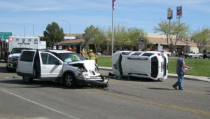 An accident on Brigham Road in Bloomington sent two people to the hospital Saturday | Photo by Ric Wayman, St. George News