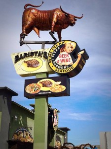A new Barista's Restaurant sign in Hurricane is leaving many people with a bad taste in their mouths and sparking outrage within the community, Hurricane, Utah, March 17, 2015   Photo by Kimberly Scott, St. George News
