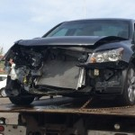 Aftermath of a two-car collision after one of the drivers allegedly ran a stop sign, St. George, Utah, March 31, 2015   Photo by Mori Kessler, St. George News