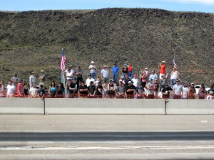 Spectators enjoying the racing at the Ridge Top Complex Saturday, March 21 | Photo by Ric Wayman, St. George News