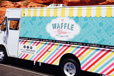 Waffle Bliss food truck in St. George, Utah, date unspecified | Photo courtesy of Waffle Bliss's Facebook, St. George News