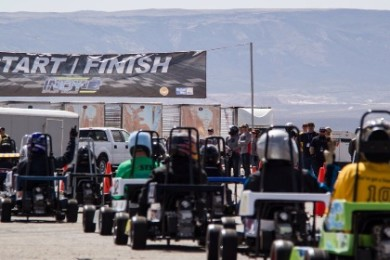 Mini Indy cars race around around the Ridge Top Complex, St. George, Utah, date not specified   Photo courtesy of SkyWest spokesman Layne Watson, St. George News