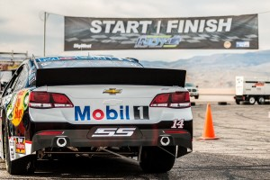 The Mobil 1 NASCAR car races around the Ridge Top Complex, St. George, Utah, date not specified | Photo courtesy of SkyWest spokesman Layne Watson, St. George News