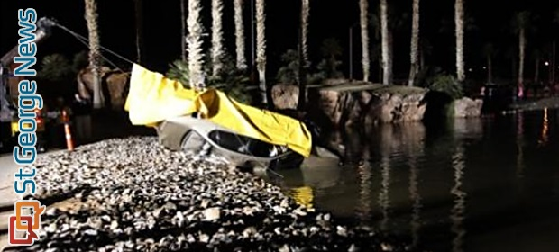 1 Dead After Vehicle Plunges Into Pond At Oasis Golf Club