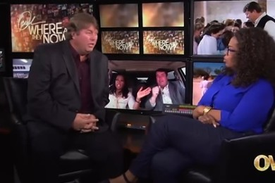 """Willie Jessop sits down with Oprah Winfrey for an episode of """"Where Are They Now,"""" Chicago, Illinois, date not specified 