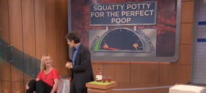 Dr. Oz features the Squatty Potty on his show on May 21, 2012 | Photo courtesy of DoctorOz.com