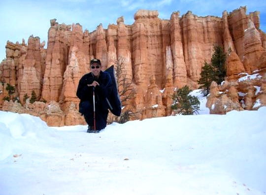 "Snowshoeing in Bryce Canyon, photo submitted by Robert Becwar to Ruby's Inn for its ""Winter Fest Photo Contest"" at Bryce Canyon, Utah, February 2015 