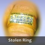 A picture of the stolen wedding ring posted on the Iron County Sheriff's Office Facebook, Cedar City, Utah, March 5, 2015 | Photo courtesy of the Iron County Sheriff's Office, St. George News