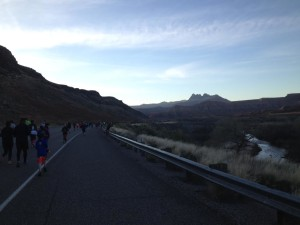 Runners traverse the beautiful Zion Half Marathon course that starts in Virgin and ends in Springdale, Utah, March 14, 2015 | Photo by Hollie Reina, St. George News