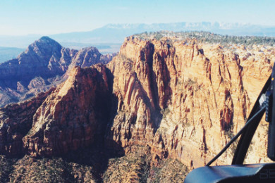 Aerial view captured from 90 mile Zion tour with Zion Helicopters, March 5th, 2015 | Photo by Ali Hill, St. George News