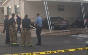 A man was transported to the hospital after crashing his car into a mobile home, St. George, Utah | Photo by Mori Kessler, St. George News