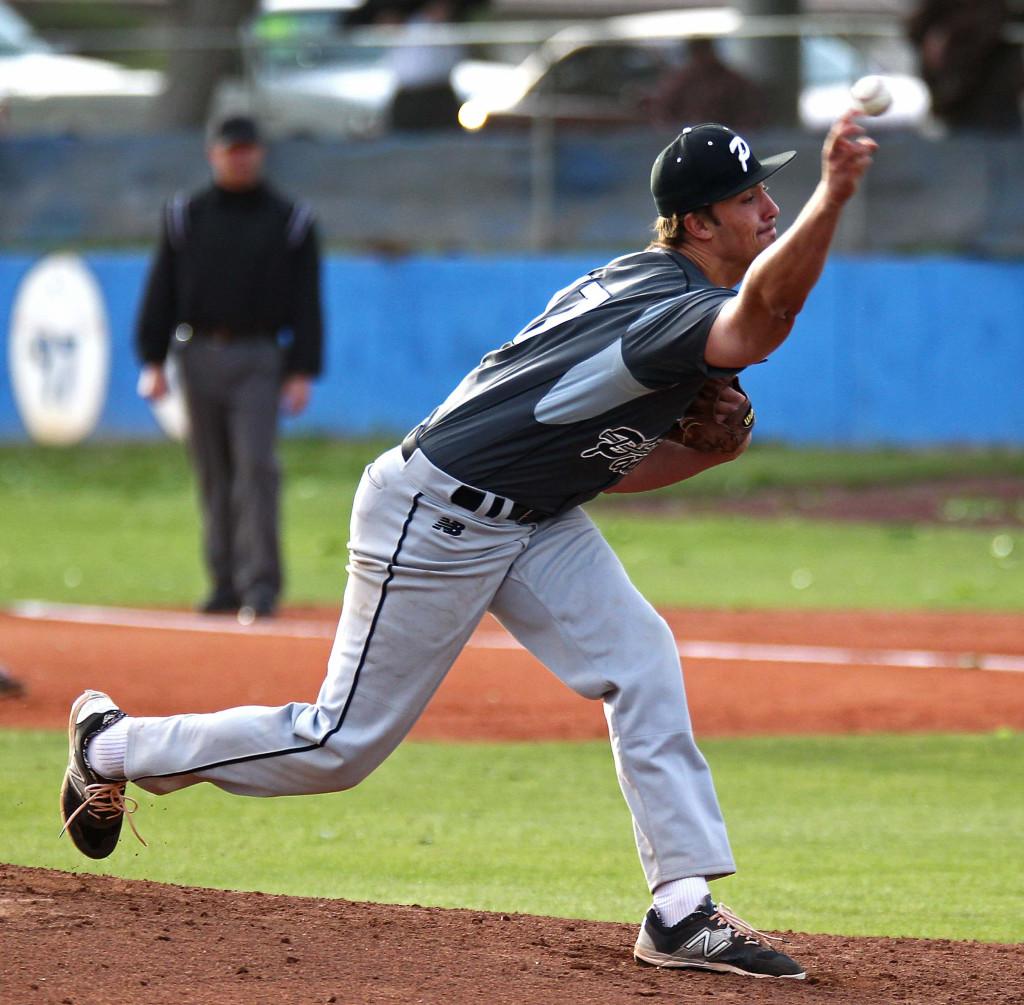 Pine View starting pitcher Dakota Donovan, Pine View vs. Dixie, Baseball, St. George, Utah, Apr. 14, 2015 | Photo by Robert Hoppie, ASPpix.com, St. George News