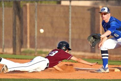 Dixie vs. Pine View, Baseball, St. George, Utah, Apr. 17, 2015 | Photo by Robert Hoppie, ASPpix.com, St. George News