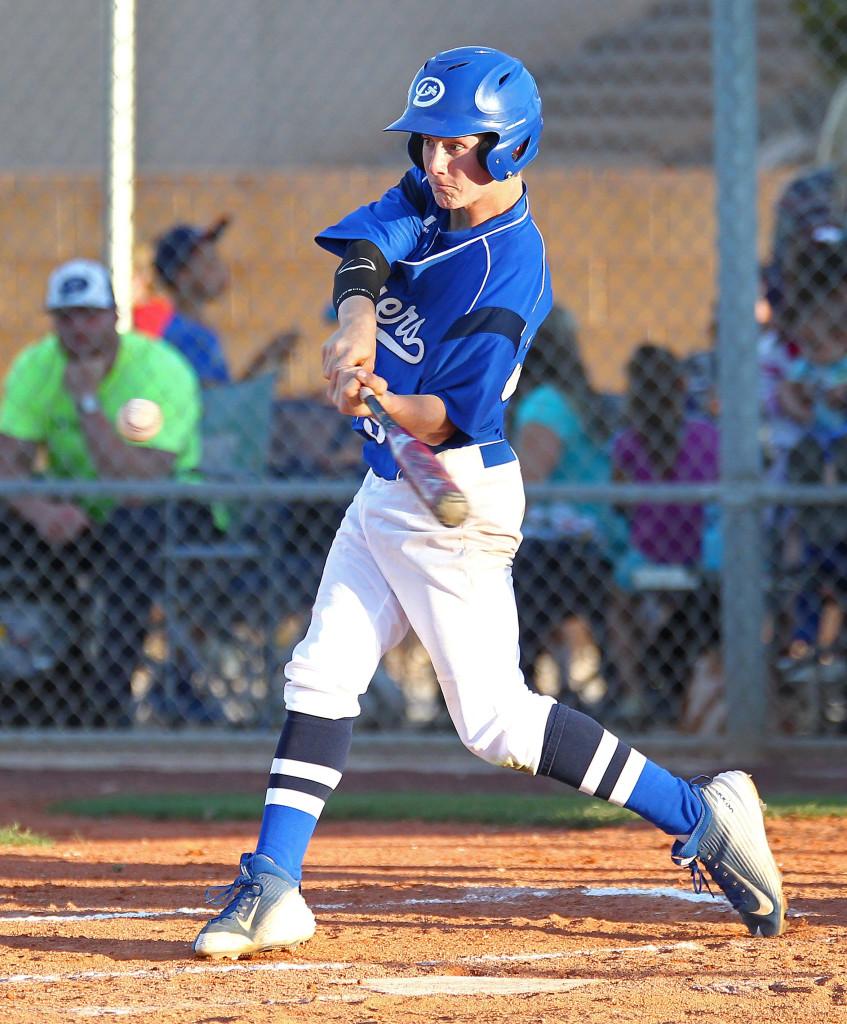 Dixie's Hobbs Nyberg, Dixie vs. Pine View, Baseball, St. George, Utah, Apr. 17, 2015 | Photo by Robert Hoppie, ASPpix.com, St. George News