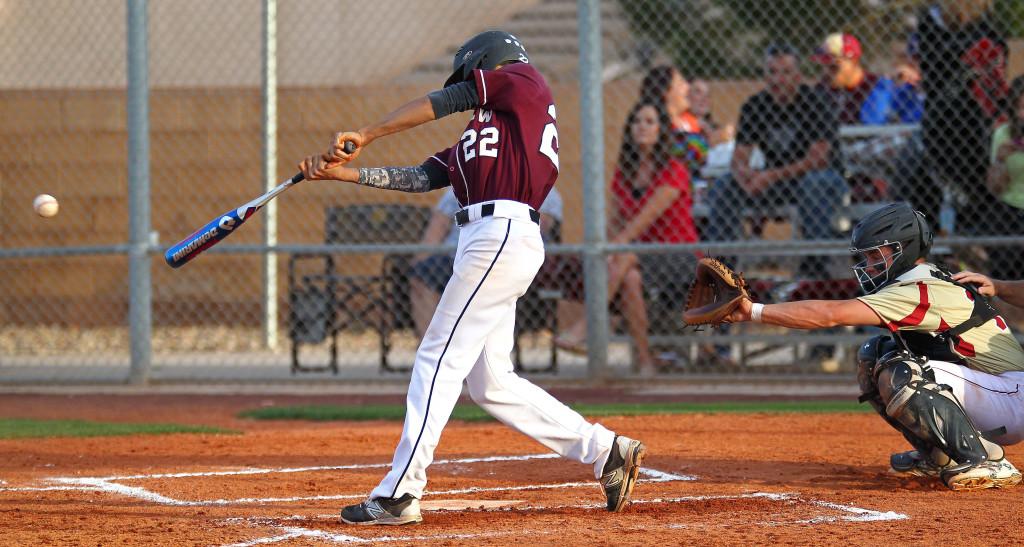 Logan LaFemina (22) bats for the Panthers, Cedar vs. Pine View, Baseball, St. George, Utah, Apr. 21, 2015 | Photo by Robert Hoppie, ASPpix.com, St. George News