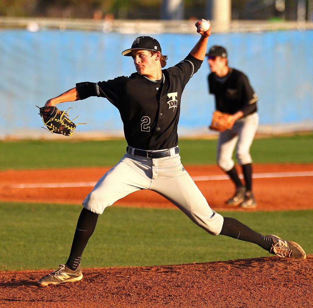 Thunder starting pitcher Brayson Hurdsman (2), Desert Hills vs. Dixie, Baseball, St. George, Utah, Mar. 31, 2015 | Photo by Robert Hoppie, ASPpix.com, St. George News