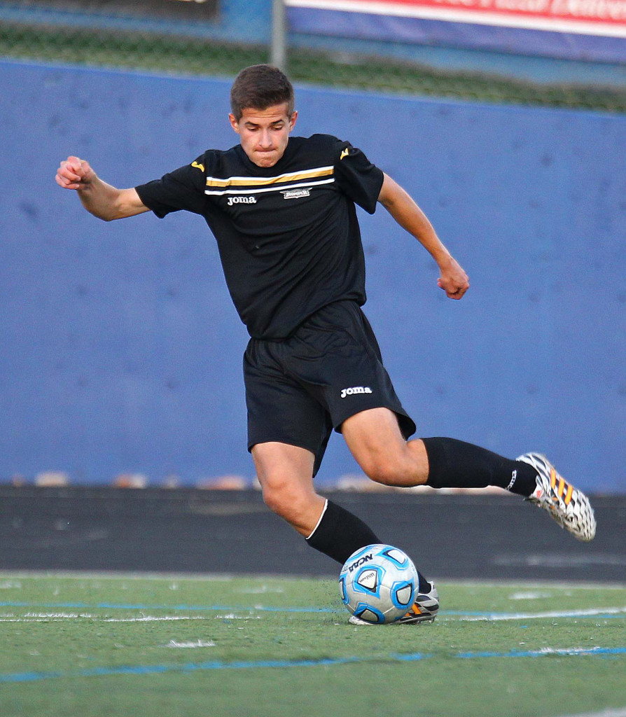 Christian Cottle is one of 15 experienced players returning for the Thunder, file photo from Desert Hills vs. Dixie, Soccer, St. George, Utah, Mar. 31, 2015   Photo by Robert Hoppie, ASPpix.com, St. George News