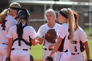 Cedar vs. Pine View, Softball, St. George, Utah, Apr. 9, 2015 | Photo by Robert Hoppie, ASPpix.com, St. George News
