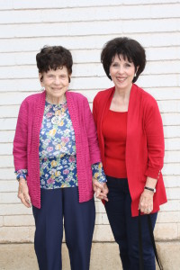 L-R: Ardella Heiner with her daughter Jeanette Benson. Photo courtesy of Jeanette Benson. Heiner was honored as daughter of Henry and Susanna Gubler, one of the city's founding couples.