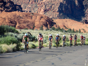 Athlete's bike across St. George, St. George, Utah, May 3, 2014 | Photo courtesy of St. George and Zion National Park Tourism, St. George News