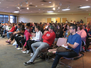 Michael O. Leavitt Center for Politics and Public Service presents a lecture on human trafficking, Southern Utah University, Cedar City, Utah, April 2015 | Photo by Carin Miller, St. George News