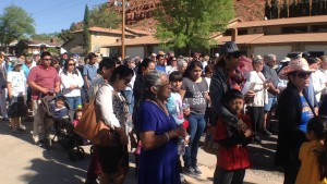 More than 100 people walked with religious leaders to reflect on  Jesus Christ, St. George, Utah, April 3, 2015 | Photo by Holly Coombs, St. George News