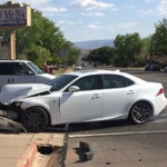 A two-vehicle collision on Tabernacle Street sent one person to the hospital, St. George, Utah, April 20, 2015 | Photo courtesy of Abraham Palmer, St. George News