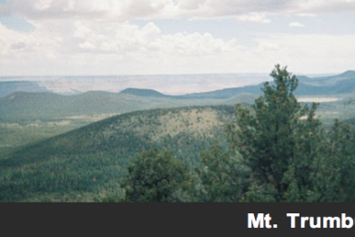Mt. Trumbull wilderness looking south towards the Grand Canyon, Arizona, circa 2006 | Public domain photo, St. George News