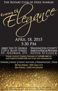 Event flyer | Image courtesy of the Rotay Club of Dixie Sunrise, St. George News