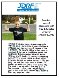 JDRF feature on Brandon Roundy, location and date unspecified | Image courtesy of the Juvenile Diabetes Research Foundation, St. George News