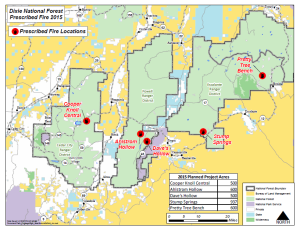 Dixie National Forest prescribed burn locations | Image courtesy of Dixie National Forest, St. George News