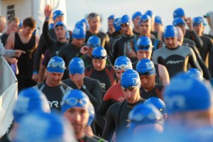 Athlete's get ready for their swim, St. George, Utah, May 3, 2014 | Photo courtesy of St. George and Zion National Park Tourism, St. George News