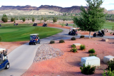 "Real estate professionals and community members golfed for Red Rock Center for Independence, Washington County Board of Realtors' ""Charity Golf Tournament."" SunRiver Golf Course, St. George, Utah, April 17, 2015 