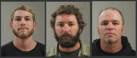L-R: Ramsey Campos, Zachary Humphries, David Mangold III, booking photos, Hurricane, Utah,  posted Dec. 10, 2014 | Photos courtesy of Washington County Sheriff's Office, St. George News