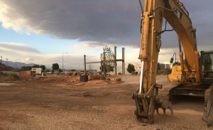A part of the site of a future Mercedes-Benz auto dealership located on the northwest corner of Hilton Drive and Black Ridge Drive, St. George, Utah, April 16, 2015 | Photo by Mori Kessler, St. George News