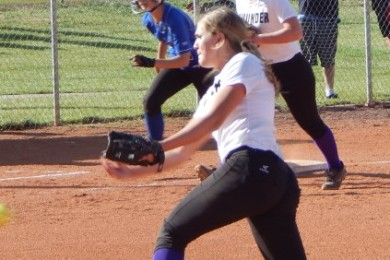 Dixie at Desert Hills, softball, St. George, Utah, Apr. 7, 2015   Photo by Andy Griffin, St. George News