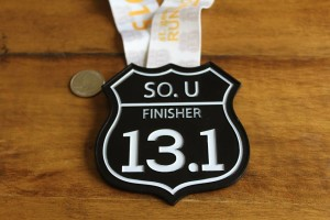 The 2015 Southern Utah Half Marathon finisher medal, St. George, Utah, date not specified | Photo courtesy of Southern Utah Half Marathon, St. George News