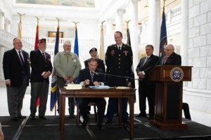 Gov. Gary Herbert signs three veteran-related bills on Veterans Recognition Day, Salt Lake City, Utah, March 30, 2015 | Photo courtesy of the Utah Governor's Office, St. George News