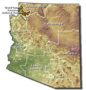 Darkened section in upper left corner of map indicates Grand Canyon-Parashant National Monument   Photo courtesy of Bureau of Land Management, St. George News