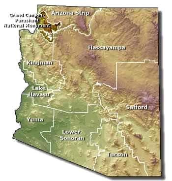 Darkened section in upper left corner of map indicates Grand Canyon-Parashant National Monument | Photo courtesy of Bureau of Land Management, St. George News