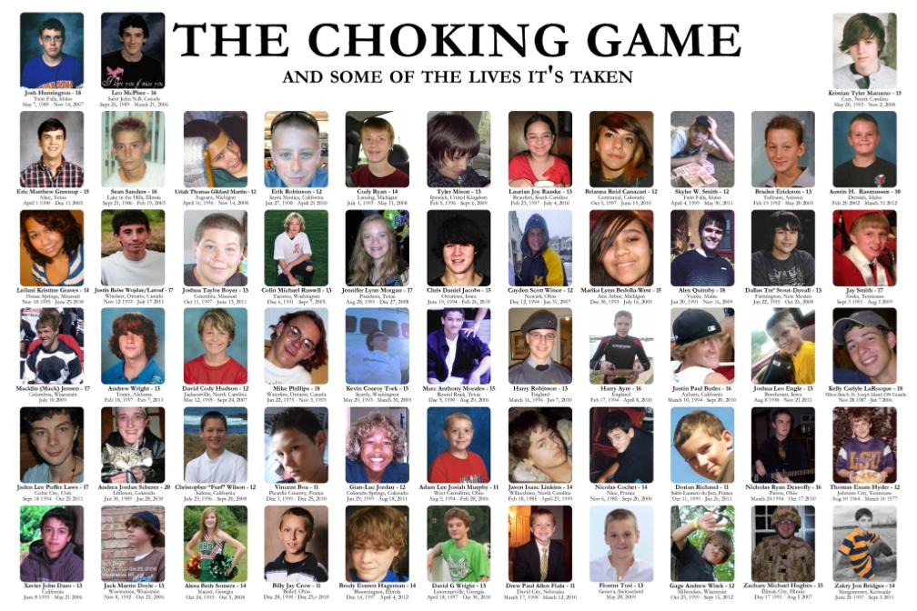 Αποτέλεσμα εικόνας για Choking game