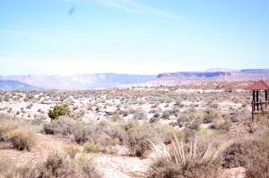 A view from the upper JEM trail parking lot shows the desert landscape of the Hurricane Cliffs Trail network, Hurricane, Utah, April 11, 2015   Photo by Hollie Reina, St. George News