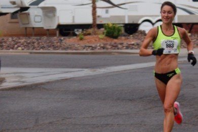 Racers come through mile marker six during the Southern Utah Half Marathon, St. George, Utah, April 25, 2015 | Photo by Hollie Reina, St. George News